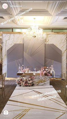 Wedding Ceremony Backdrop, Wedding Stage, Art Deco Wedding, Wedding Sets, Wedding Themes, Wedding Designs, Rustic Wedding, Stage Decorations, Decoration Table