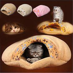 Cat Dog Sleeping Bag Warm Snuggle Sack Pet Bed House Cave Igloo ...