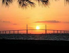 The Sunshine Skyway Bridge, Tampa Bay FL