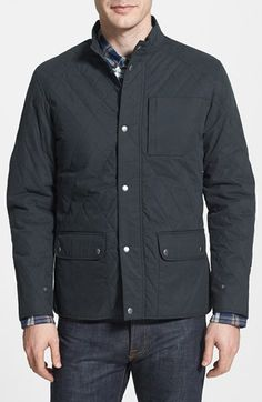 W.R.K 'Stafford' Quilted Trim Fit Hunter Jacket available at #Nordstrom
