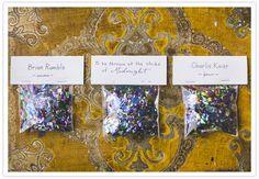 new years wedding confetti toss place cards #placecards #nyewedding #newyearsevewedding #nye #newyearsever #weddinginspirations #wedding