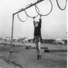 ring pull ups at school playground--we called them 'the rings' and they were crazy tall