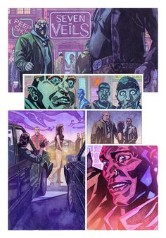 A page from Veil#1 ( Dark Horse Comics). Story: Greg Rucka