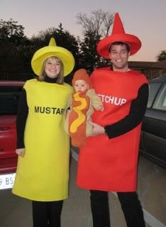 Hot Dog theme! This Mommy Loves: Family Themed Halloween Costumes