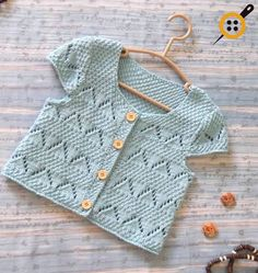 Baby Vest Models - 2017 Baby Vest Knitted Models - Diy And Home Love Knitting, Knitting For Kids, Baby Knitting Patterns, Crochet For Kids, Baby Patterns, Hand Knitting, Knit Crochet, Knitted Baby, Cardigan Bebe