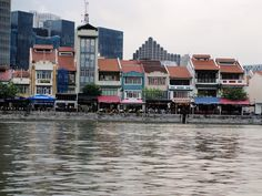 Singapore waterfront, old town buildings. Been there.