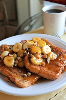 Peanut Butter Bananas Foster French Toast