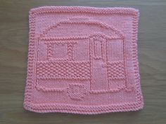 Ravelry: My Camper Dishcloth pattern by Christel Bayer