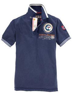 Napapijri - Poloshirt mit aufwendiger Stickerei in Navyblue, Modell Gandy