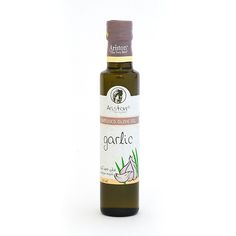 Delicious garlic flavored olive oil from Greece