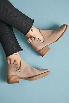 Seychelles Ruffled Ankle Booties