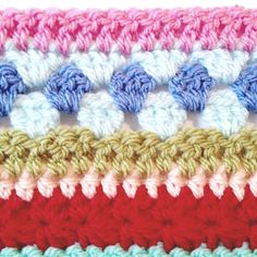 Hello everyone! Today we're up to week 11 of our crochet along — can you believe it? Are you ready to get started? Don't forget, we're using US terms. Striped Crochet Blanket, Crochet Blanket Edging, Crochet Bedspread Pattern, Crochet For Beginners Blanket, Crotchet Patterns, Crochet Cushions, Crochet Stitches Patterns, Crochet Designs, Scrap Yarn Crochet