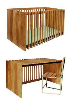 District Crib transforms into an adult-sized desk | Nurseryworks
