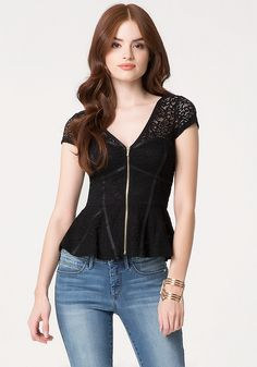 http://www.bebe.com/ZIP-FRONT-CAP-SLV-LACE-PEPLUM/74660.pro?productFindingMethod=CT product2