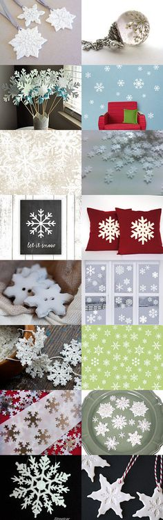 Baby It's COLD Outside! by Erinn LaMattery on Etsy--Pinned with TreasuryPin.com #snowflakes #ChristmasGift #ChristmasWeather #letItSnow