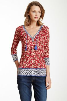 Anderson Border Print Blouse by Lucky Brand on @HauteLook