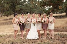 Lovin the chic sequin skirts with the rustic backdrop- perfect combo!