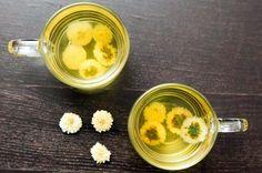 Làm trắng da bằng uống trà Hoa Cúc