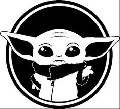 Baby Yoda the child star wars svg file cameo shirt Star Wars Stencil, Star Wars Art, Star Wars Stickers, Car Stickers, Star Wars Silhouette, Deco Originale, Star Citizen, Cricut Creations, Logo Sticker