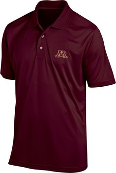 los angeles 83e5f 4611b Champion Men s Minnesota Golden Gophers Maroon Classic Polo, Size  Medium,  Team