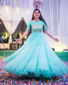 Brides in Mrunalini Rao Party Wear Long Gowns, Party Wear Indian Dresses, Indian Wedding Gowns, Indian Gowns Dresses, Wedding Sarees, Bridal Lehenga, Indian Bridal, Long Gown Dress, Lehnga Dress