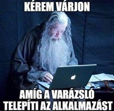 Gandalf the Geek! In this meme's version Gandalf the Grey from the popular Lotr trilogy is not some wise old wizard but more a classic old geek. Having spend most of his time infront of a pc screen he has truly become an IT WIZARD. Memes Humor, Tech Humor, Funny Memes, Gandalf, Legolas, Thranduil, Funny Shit, Hilarious, Funny Stuff
