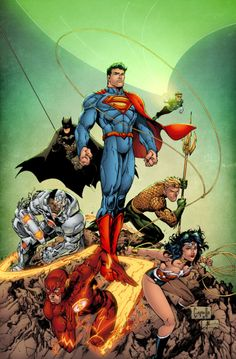 The Justice League // artwork by Greg Capullo and Alonso Espinoza (2012)