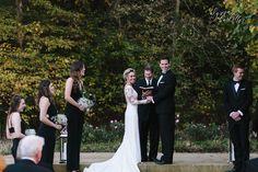 outdoor wedding ceremony in fayetteville, arkansas