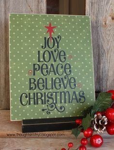 I just received this in the mail this week. I'm going to put it on a glass block. Christmas Word Tree {small}