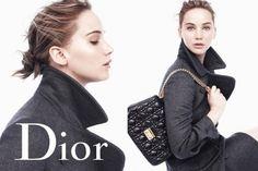 Linda e quase maquiagem, Jennifer Lawrence na nova campanha da bolsa Miss Dior