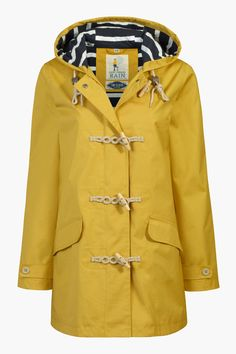 Yellow Slicker Raincoat Women ❤ liked on Polyvore featuring ...