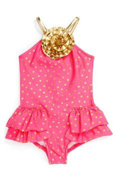 Love U Lots One-Piece Swimsuit (Baby Girls) available at #Nordstrom