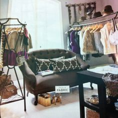 This year I vow to...create my fantasy closet in the spare bedroom that no one ever uses :). From Ballard Designs catalog