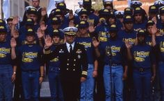 Special recruit unit enlists at the dedication of the Navy Memorial -- October 13, 1987