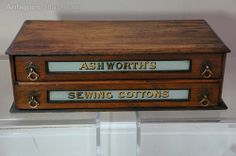Ashworths Sewing Cottons, Shop Counter Cabinet