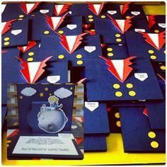 Convite Infantil tema Pequeno Príncipe produzido por Mônica Guedes