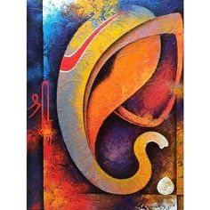 Painting abstract oil canvases ideas for 2019 Ganesha Drawing, Lord Ganesha Paintings, Lord Shiva Painting, Ganesha Art, Krishna Painting, Budha Painting, Shiva Art, Krishna Art, Hindu Art