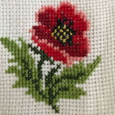 Cross Stitch, Embroidery, Flowers, Cross Stitch Borders, Herb, Embroidered Towels, Small Cross Stitch, Crochet Flowers, Poppies
