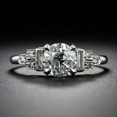 1.03 Carat Diamond Art Deco Engagement Ring - GIA E/SI2 - Shop for Jewelry