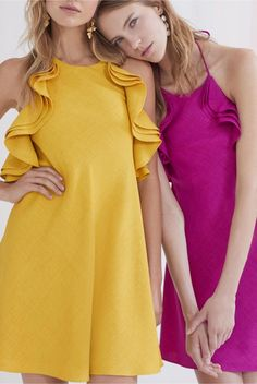 Spring Party Dresses for 2017. Brightly colored party dresses from BHLDN