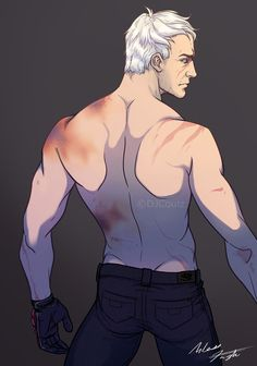 Trying to break my art block with Jack Morrison Overwatch Hanzo, Overwatch Fan Art, Solider 76, Jack Morrison, Male Pose Reference, Male Poses, Drawing Practice, Gay Art, A Team