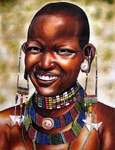 http://www.insideafricanart.com/Artists%20Main%20Pages/Kamunya/Kamunya%20-%20Maasai%20Smile.jpg