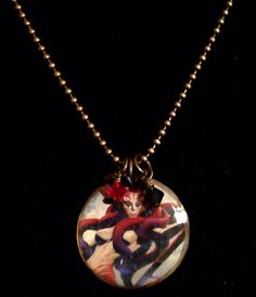 Thassa God of the Sea Brass Necklace / Magic the Gathering  on Etsy, $19.00