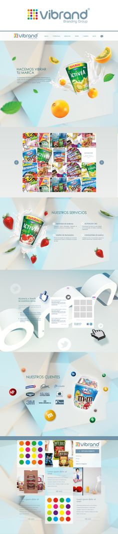Vibrand Website - Branding Group by Andres Rodriguez, via Behance
