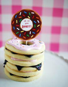 donut cookies by Bridget bakeat350.blogspot.com, free printables