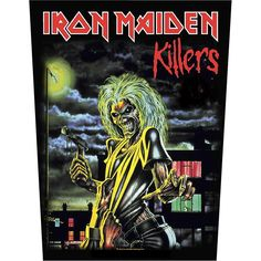 Printed back patch to stitch-on of Iron Maiden with Killers design. The back patch of Iron Maiden has a size of approx. 25 x 35 cm and is made of 100% polyester. 7.99pounds