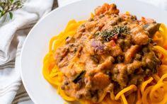 Butternut Pasta With Lentil Bolognese [Vegan, Gluten-Free] | One Green Planet
