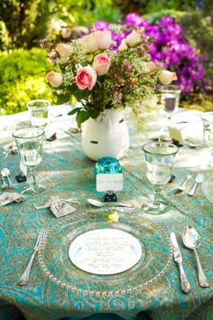 shabby chic centerpiece  //  donna beck photography