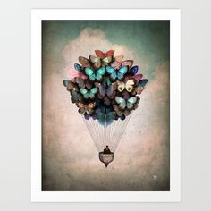 Dream On Art Print by Christian Schloe. Worldwide shipping available at Society6.com. Just one of millions of high quality products available.