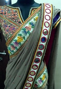 Mirror work #Saree. In another color probably. Something brighter.